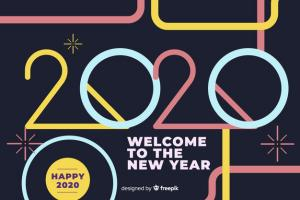 welcome new year 2020 flat design 23 2148334094